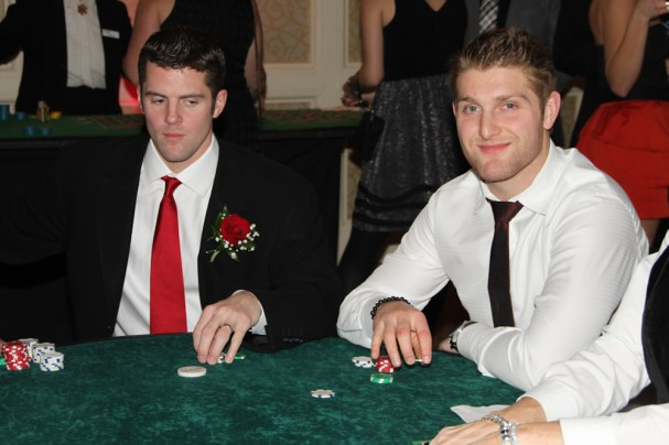 Tom Poti and Karl Alzner at the Poker Table