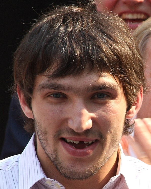 Alex Ovechkin minus three of his bottom front teeth.