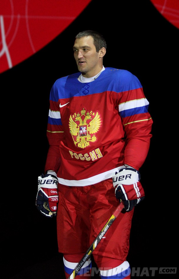 Alex Ovechkin Shows Off Russia's New Olympic Jerseys