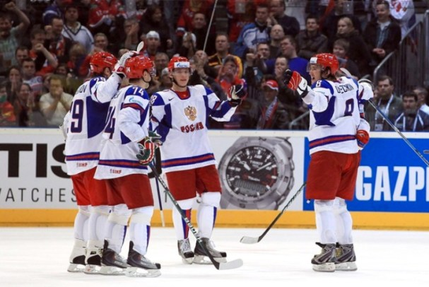 Alex Ovechkin Scores His First Goal of the 2010 World Championships in Germany
