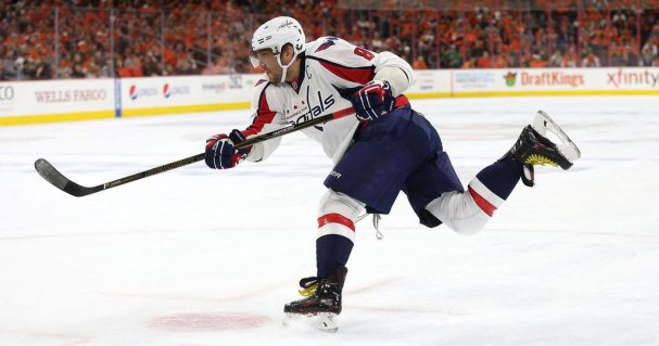 Alex Ovechkin shooting