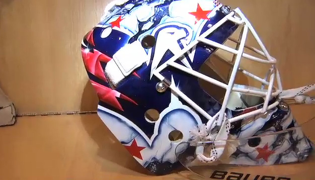 Braden Holtby Debuts His New Goalie Mask On Caps365 Rmnb