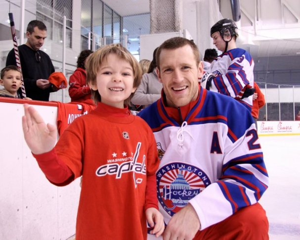 Brooks Laich with Josh