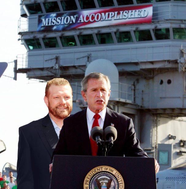 Tim Thomas George Bush Mission Accomplished