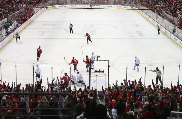 Capitals crowd react to goal