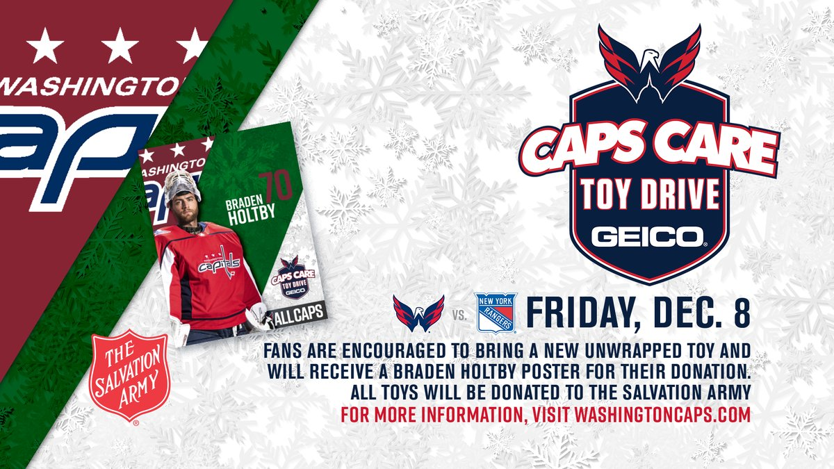 b89aec62c9e Capitals to host holiday toy drive December 8 before home game vs. Rangers