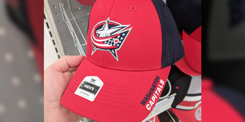 Something seems very off about this Columbus Blue Jackets hat Target is  selling 🤔 e7d4dd5df14