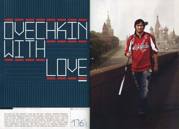 Ovechkin With Love in the Nov. issue of GQ
