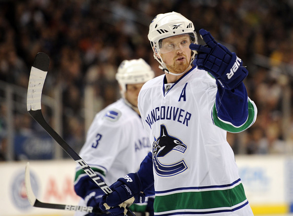 It's a two-horse race. Will Henrik Sedin win the Hart Trophy this year? (Photo by Harry How)