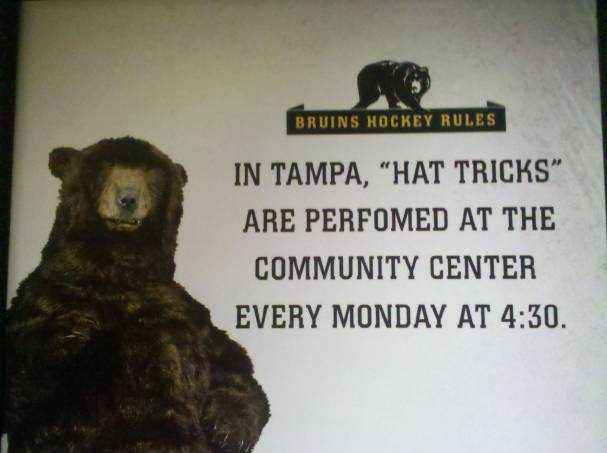"""In Tampa, """"Hat Tricks"""" are performed at the community center every Monday at 4:30."""