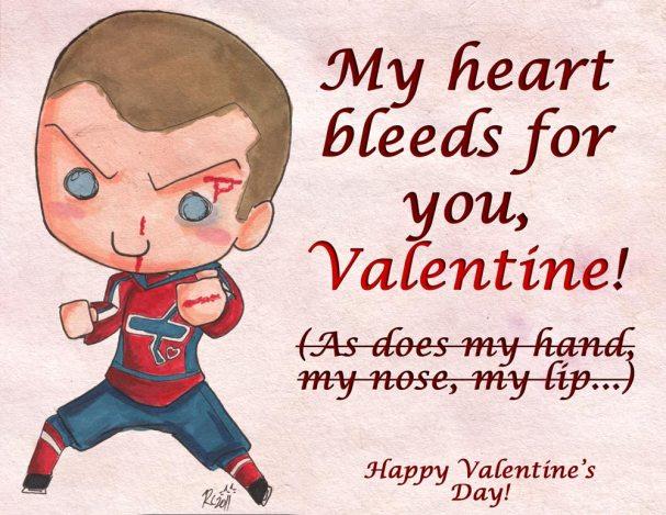 Rachel Cohen's Valentine's Day Card for Matt Bradley