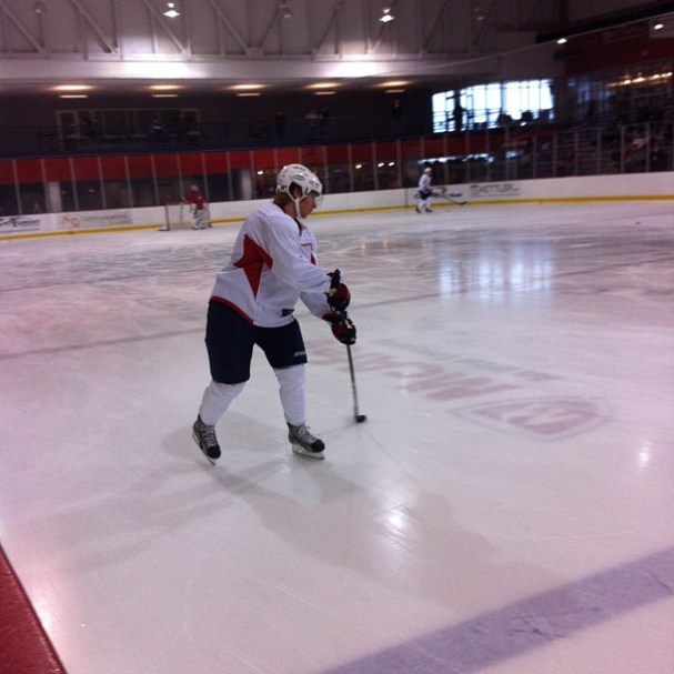 Nicklas Backstrom returns to the ice