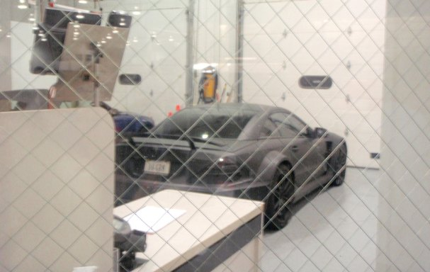 Ovi's parked car in the Sterling Best Buy