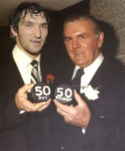 Could Ovi join Maurice Richard as one of five players to score 50 in 50?