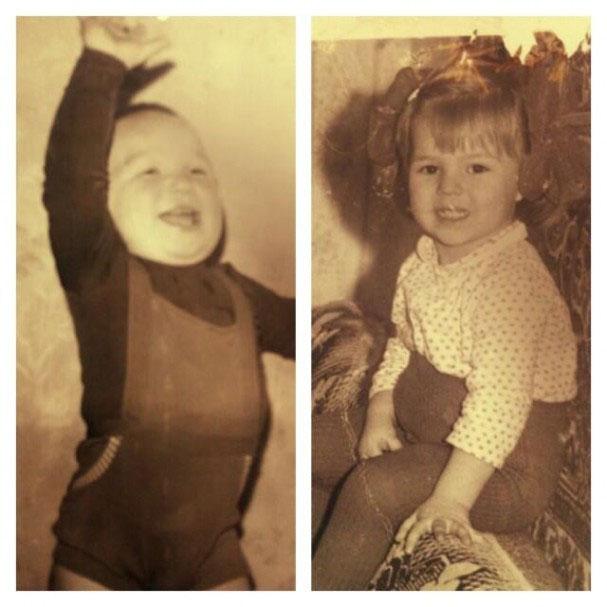 Alex Ovechkin and Maria Kirilenko as kids
