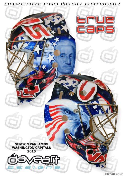 The new Semyon Varlamov mask painted by David Gunnarsson.