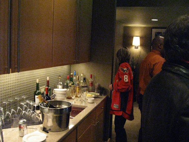 The Bar inside Ted Leonsis' Owner's Box