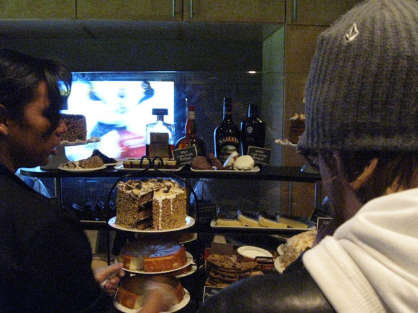 Dessert inside Ted Leonsis' Owner's Box