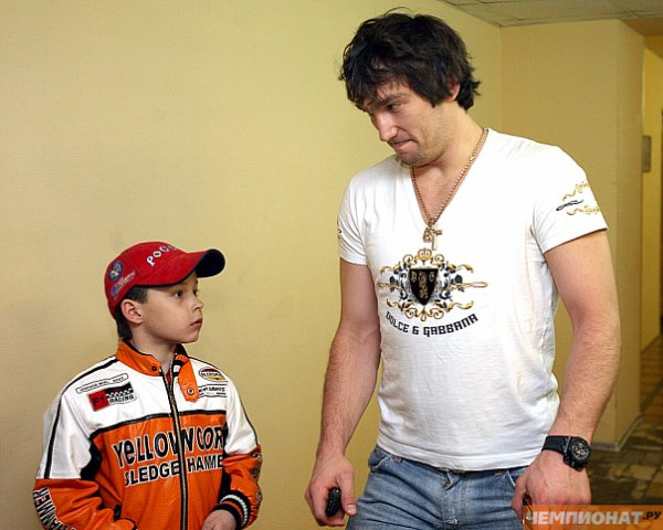 Alex Ovechkin with a child