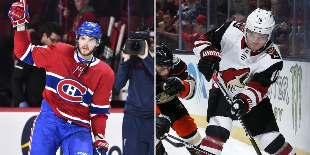 wholesale dealer bd353 241ad Arizona Coyotes acquire Alex Galchenyuk from Montreal ...