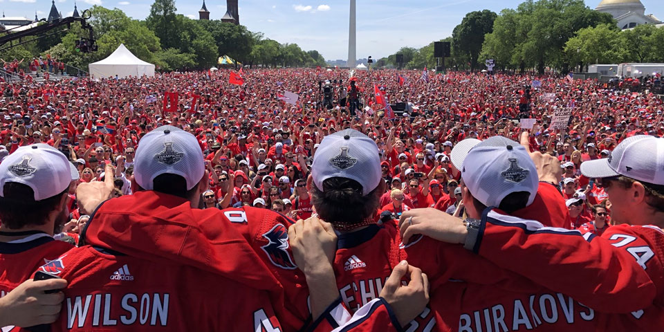 Watch The Championship Parade And Rally From The Capitals Perspective