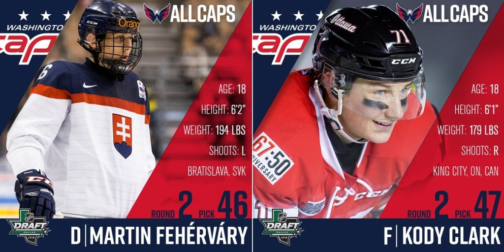 Capitals select defenseman Martin Fehervary and right wing Kody Clark in second  round of 2018 NHL Draft a3327e2c2d0