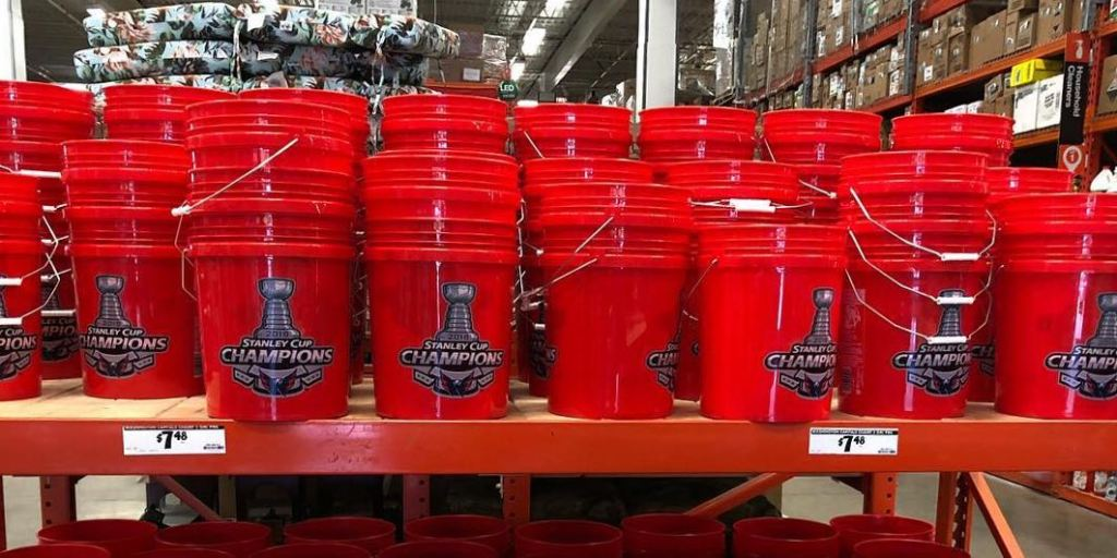 you can get a capitals stanley cup emblazoned bucket at home depot