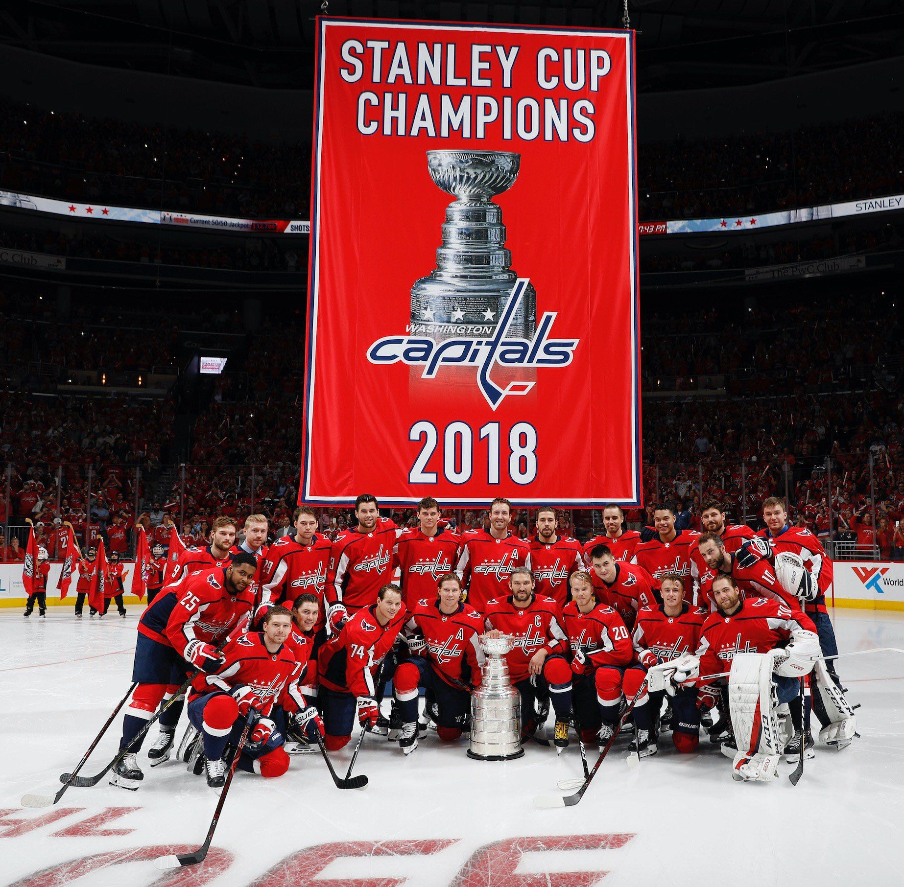 The Washington Capitals Banner Raising Was About As