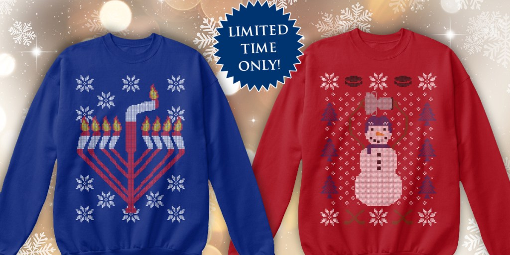 Our Ugly Holiday Sweaters This Year Will Make You The Champion Of