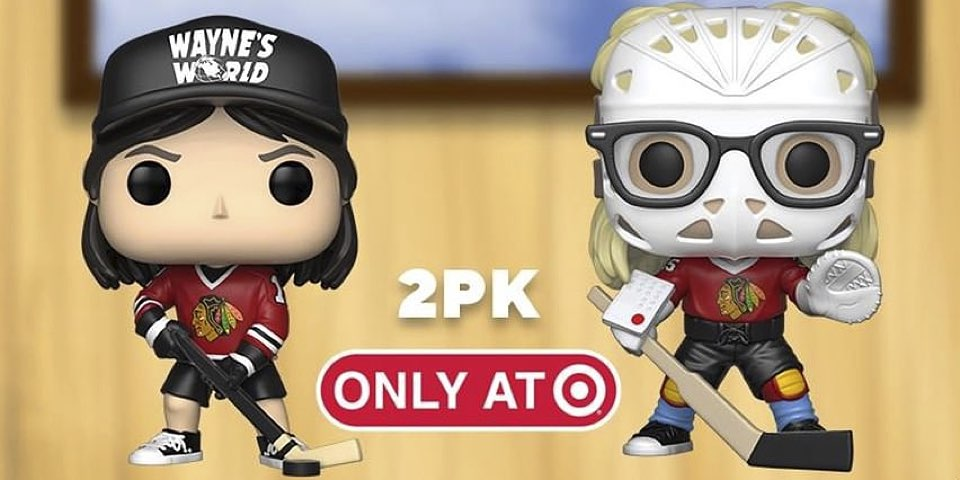 c24965eeb39 Funko created  Wayne s World  POP! figurines of Wayne and Garth playing  hockey