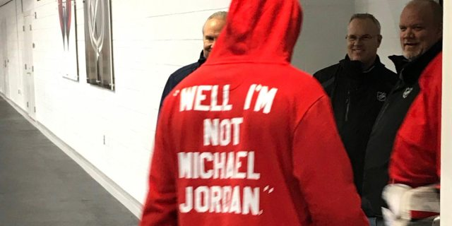 Alex Ovechkin makes statement with 'Well I'm not Michael Jordan' hoodie