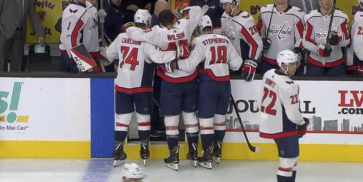 da3ae11eb Tom Wilson is day-to-day with upper-body injury, travels with team to  Arizona