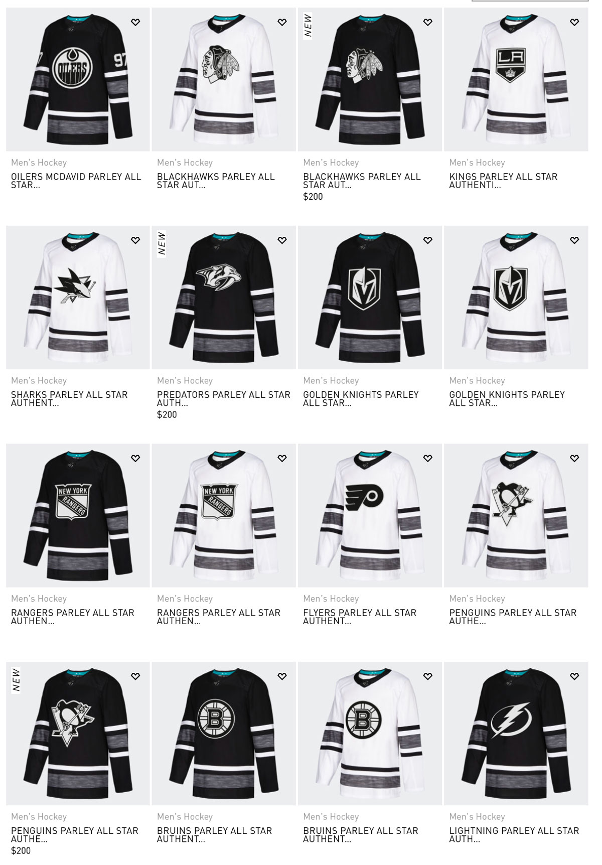 9c78cd9beca The Adidas jerseys run for $200 a piece while a normal-fabric Fanatics  jersey will be $140.