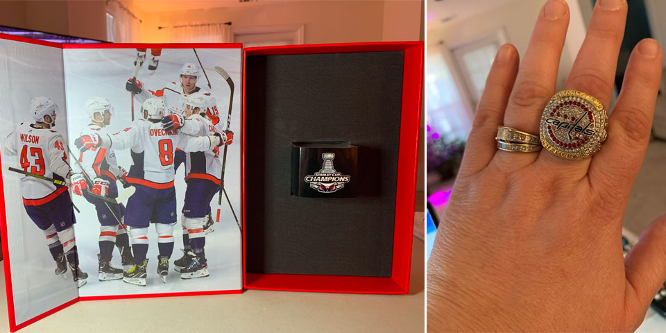 Capitals season-ticket holders are receiving a surprise gift in the mail: a Stanley Cup ring