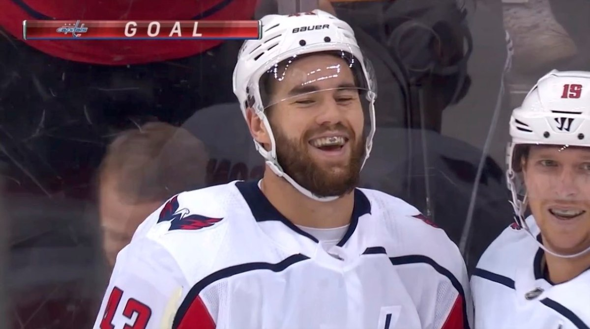Tom Wilson Couldn T Stop Giggling After Scoring On This Muffin
