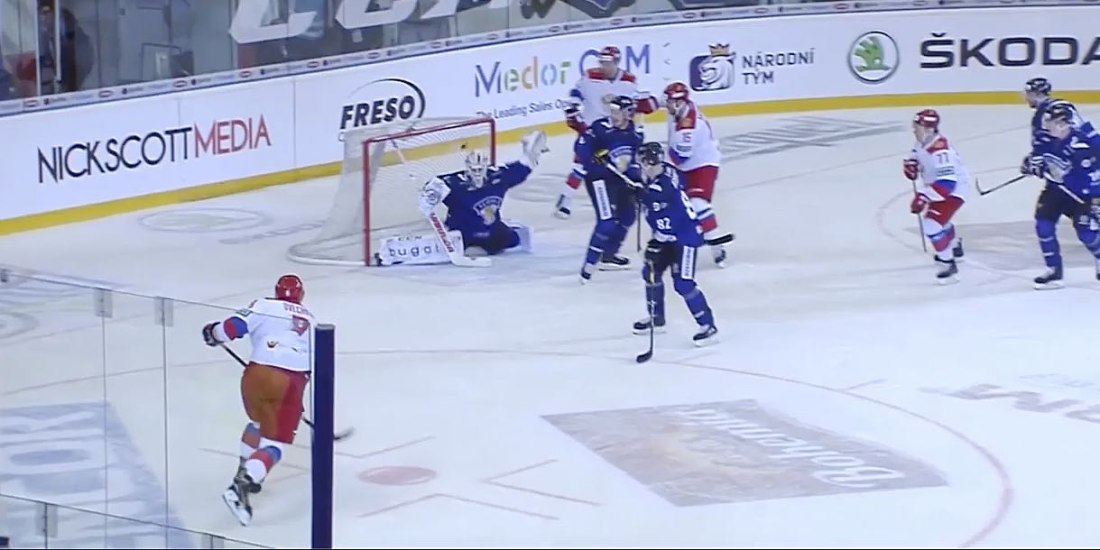 the best attitude acf9e 9279c Alex Ovechkin scores in first game back with Team Russia