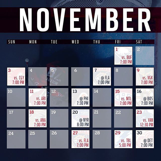 picture about Mn Wild Schedule Printable known as Heres the Washington Capitals 2019-20 month-to-month year routine
