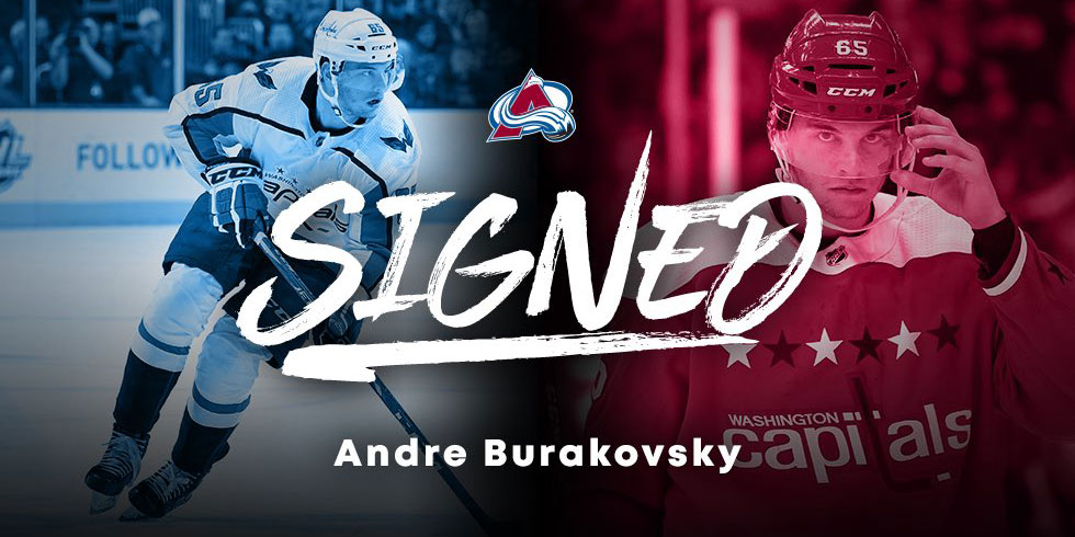sports shoes 0062b c2836 Andre Burakovsky signs one-year contract with Colorado Avalanche
