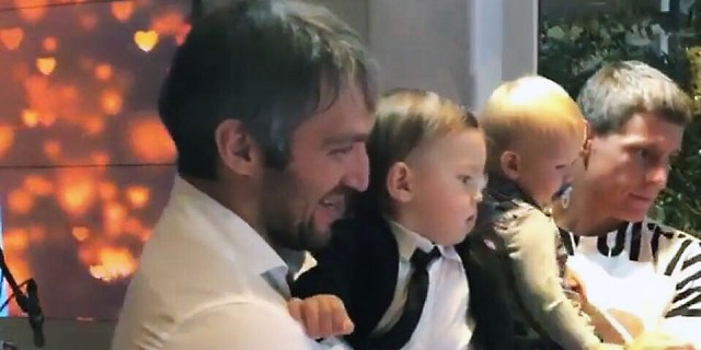 Alex Semin attends birthday party for Alex Ovechkin's son