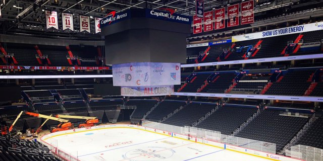 Capital One Arena's brand new jumbotron to make debut during Caps preseason opener