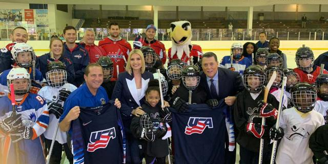 Ivanka Trump presents 'National Youth Sports Strategy' at Fort Dupont Ice Arena with Tom Wilson and John Carlson