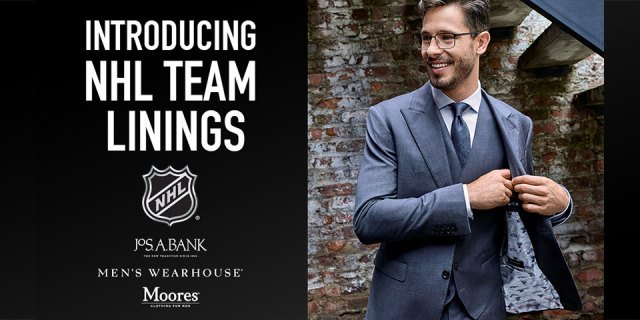 You can now have your suit lined with NHL fabric