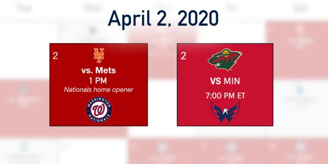 The Washington Nationals banner-raising game will be played six hours before the Capitals home finale