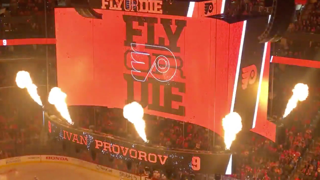 The Philadelphia Flyers Have A Jumbotron That Shoots Out Fire