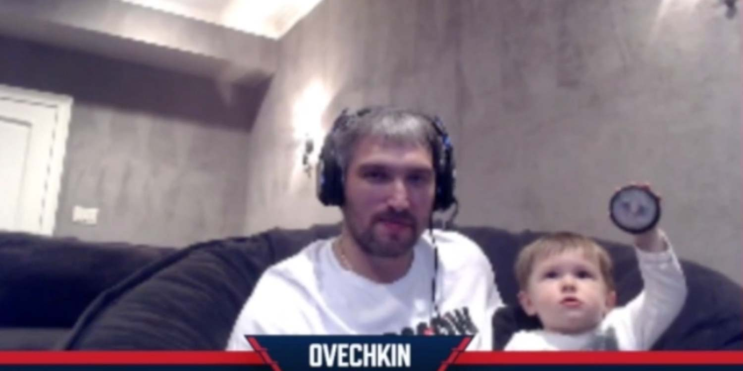 Sergei Ovechkin Made A Cameo While Dad Took On Wayne Gretzky In Nhl20