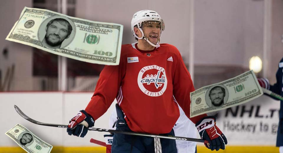 Alex Ovechkin has the third-highest career earnings in NHL history