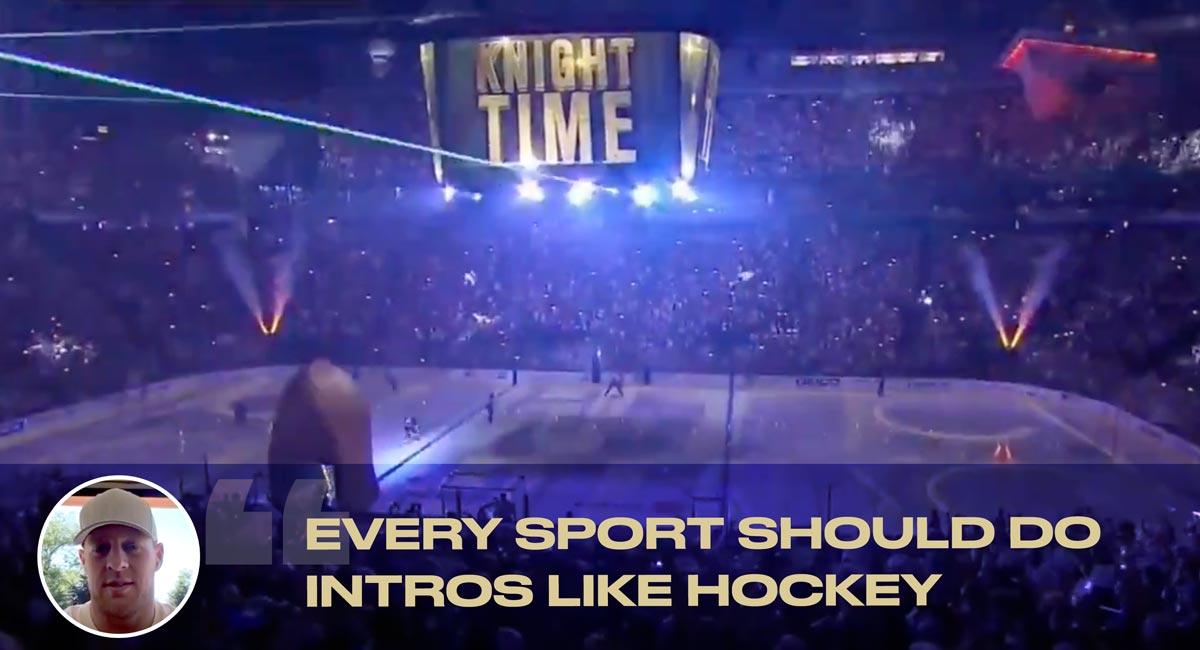 JJ Watt loves the Vegas Golden Knights' entrance: 'Every sport should do intros like hockey'