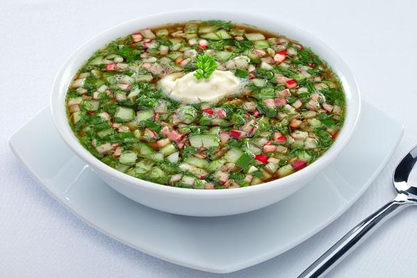 Kuliner khas rusia - okroshka