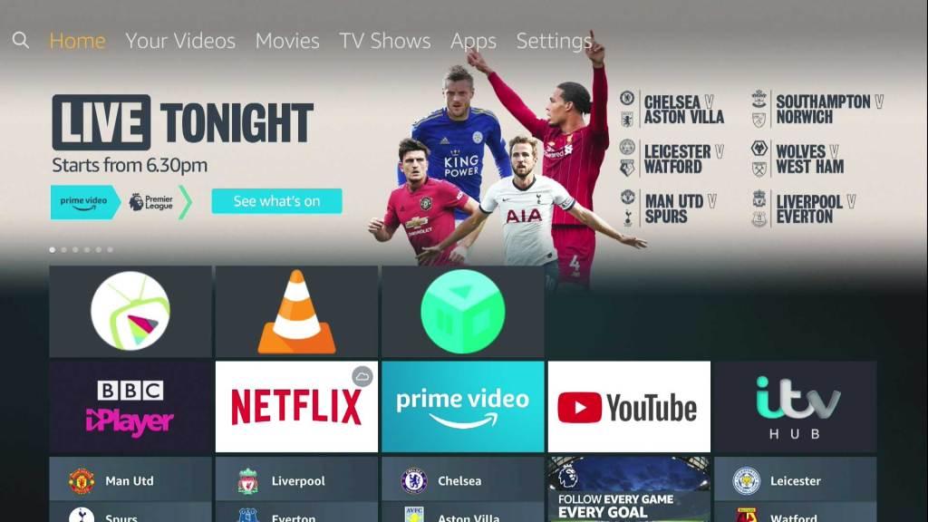 Amazon Fire TV Stick домашний экран