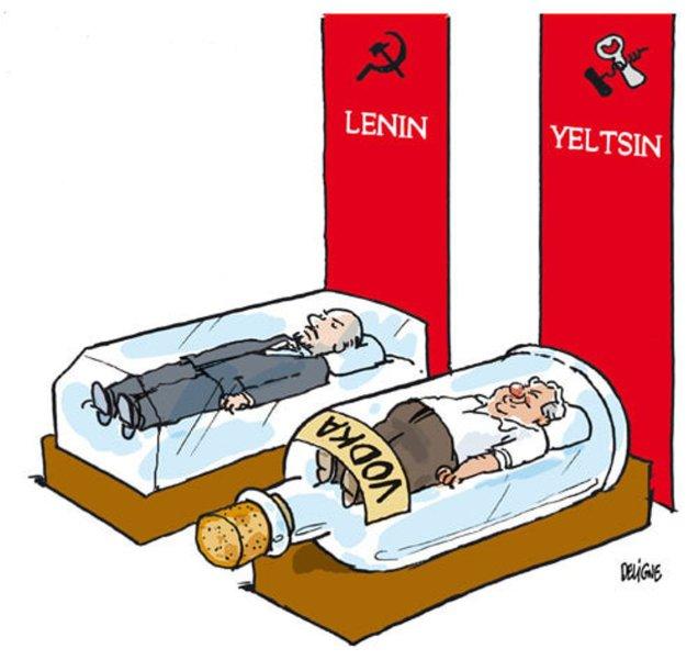 Vladimir Lenin Boris Yeltsin caricature